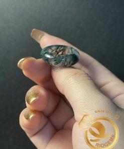 Nhẫn Ngọc thủy tảo hợp mệnh Mộc - Hỏa phong thủy