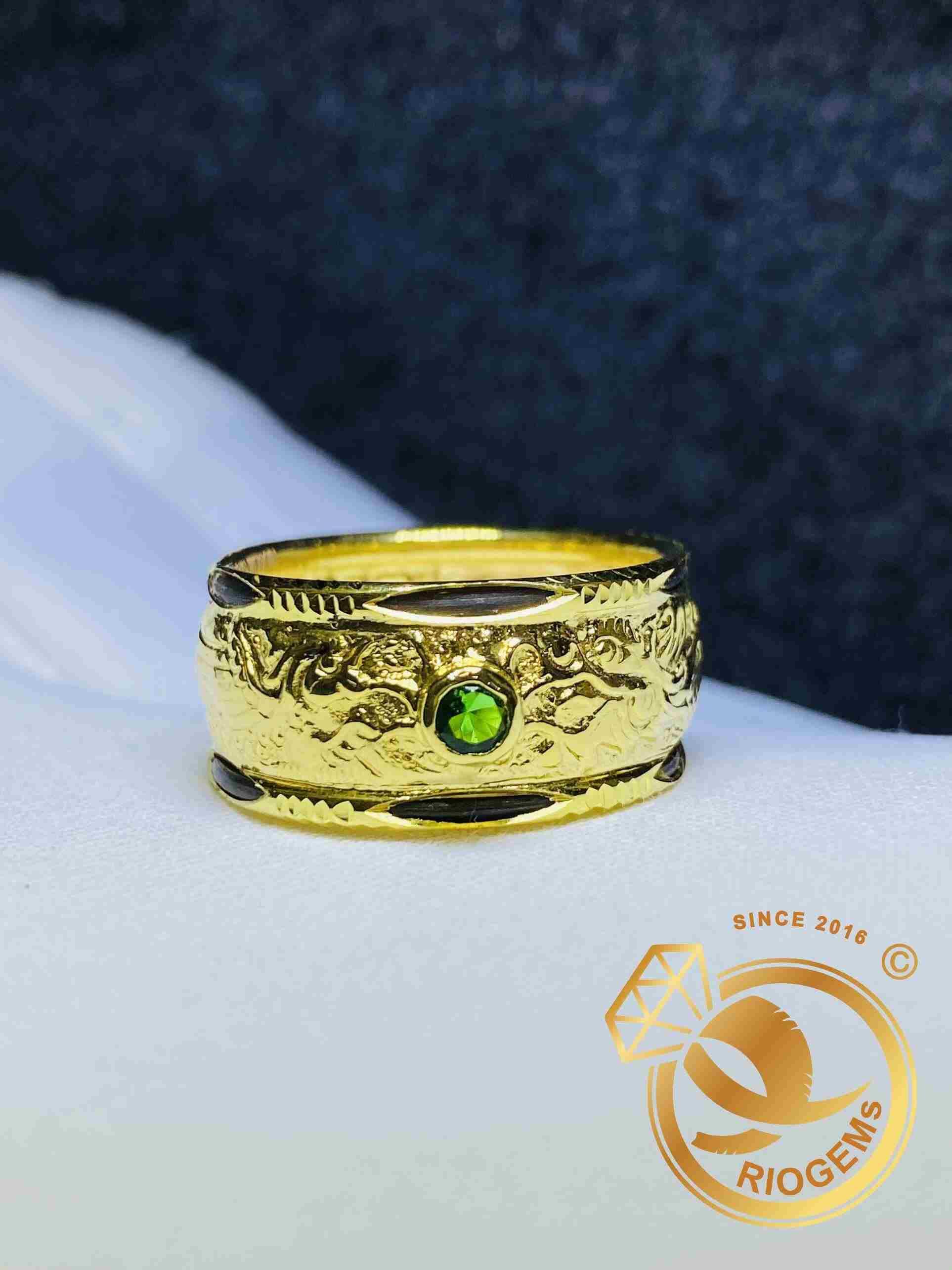 Nhẫn Rồng Phụng dập vàng 18K nhẹ vàng nhẹ tiền nhất TPHCM