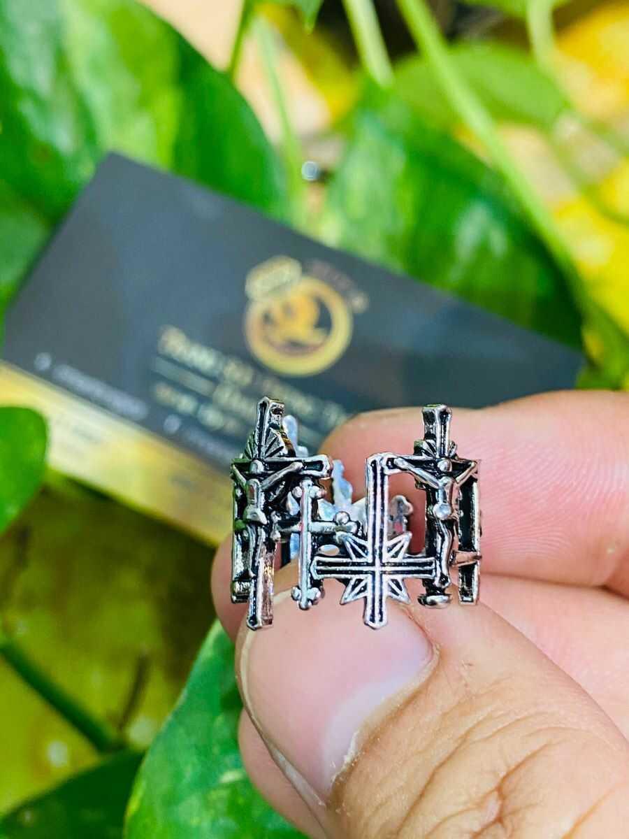 Nhẫn Thánh Giá bạc Thái RIOGEMs