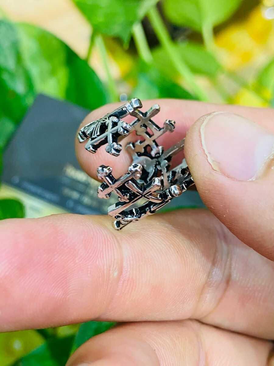 Nhẫn Thánh Giá bạc Thái đẹp