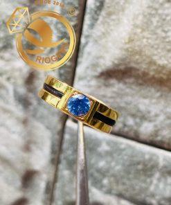 Nhẫn vàng nam mặt đá xanh dương