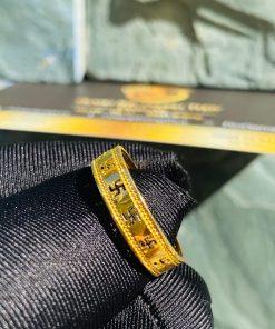 Nhẫn chữ Vạn vàng 18k bảng 4 ly