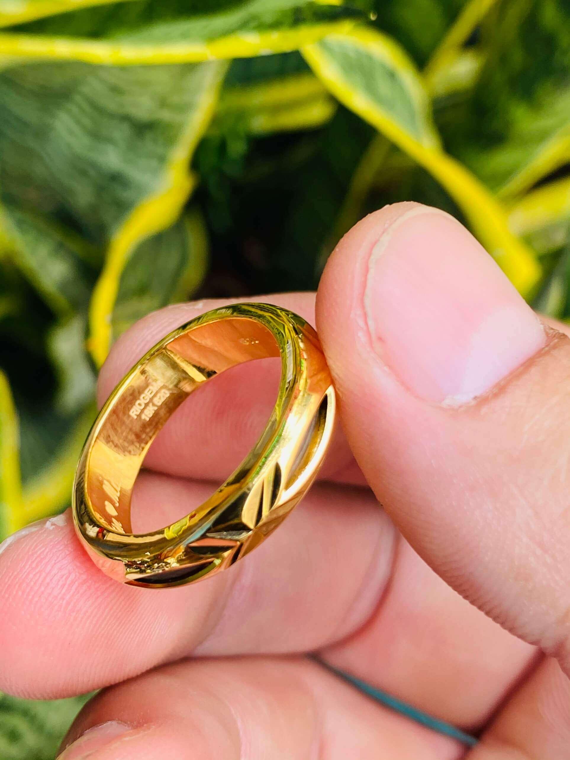 Nhẫn vàng trơn 1 chỉ đẹp dành cho nam