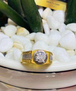 Nhẫn Rolex đính đá Zc giá rẻ cho nam vàng 18K, gía tốt nhất TP HCM