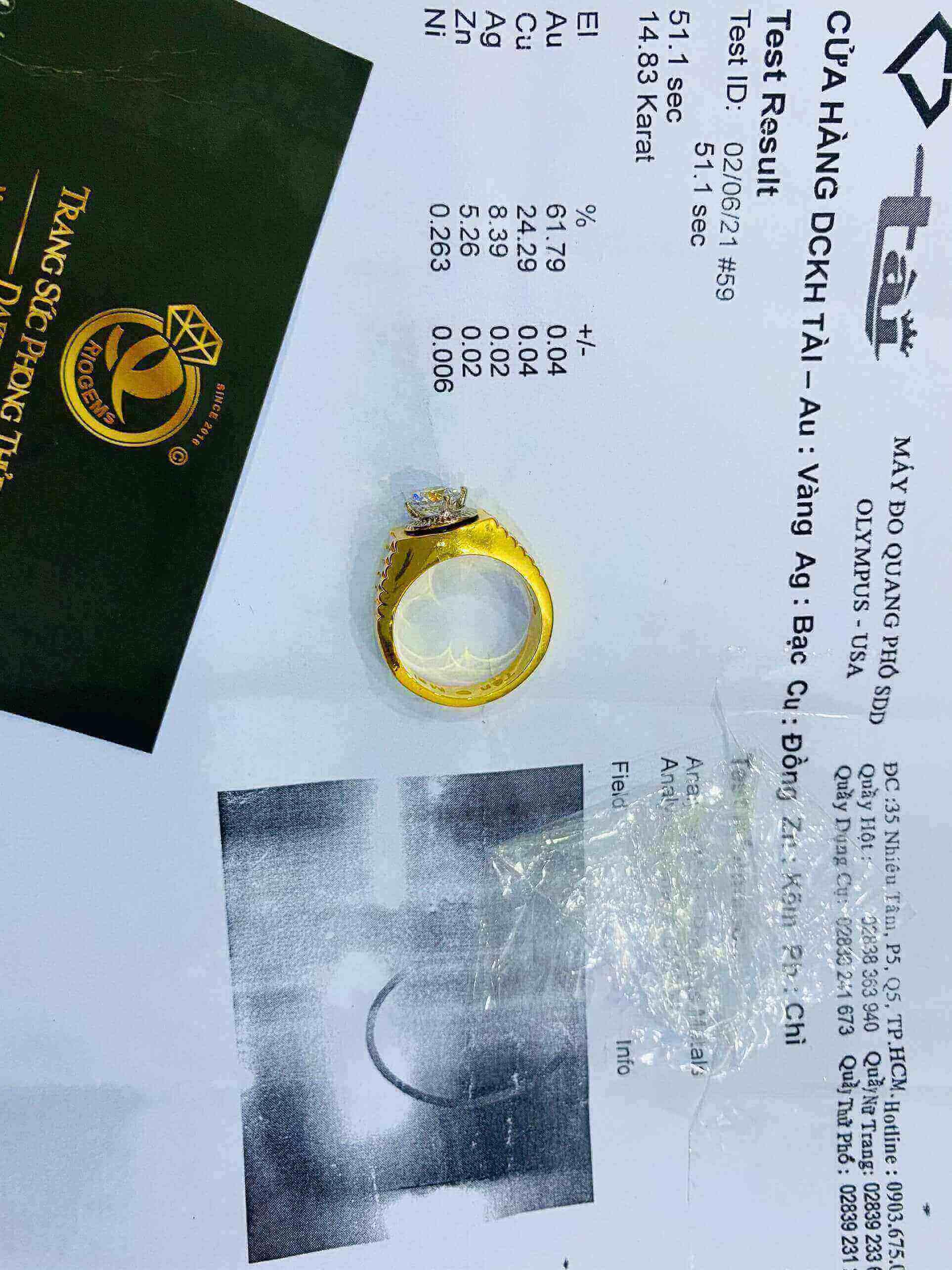 Nhẫn Rolex đính đá Zc phong thủy cho nam giới
