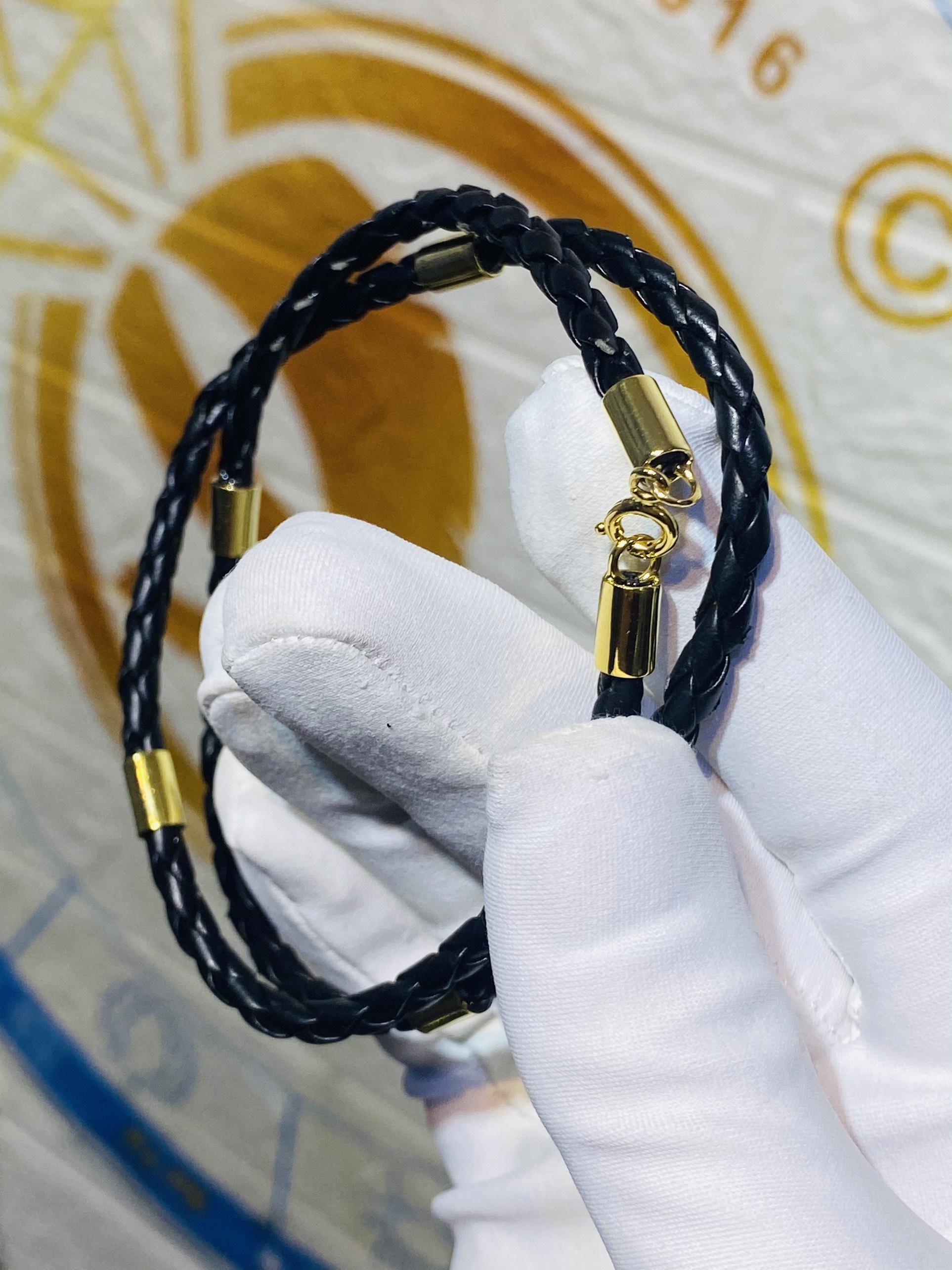 dây chuyền da bọc vàng 18K rẻ đẹp năm 2021