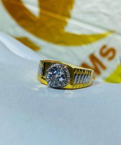 Nhẫn nam Rolex đính đá Zc tinh tế, đầy cá tính