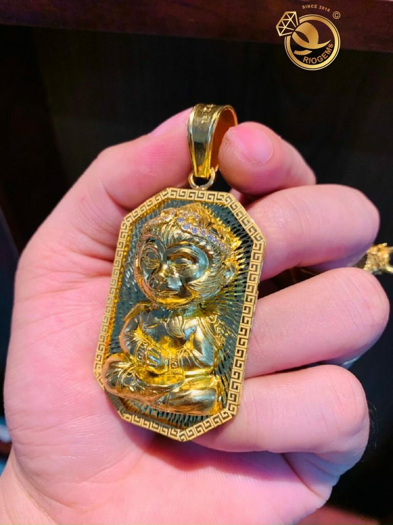 Mặt dây chuyền Tề Thiên Đại Thánh vàng đúc nguyên khối