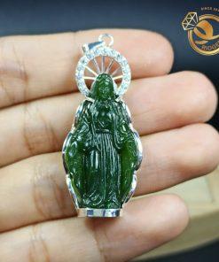 Mặt dây chuyền hình Đức Mẹ đồng trinh bằng ngọc bích