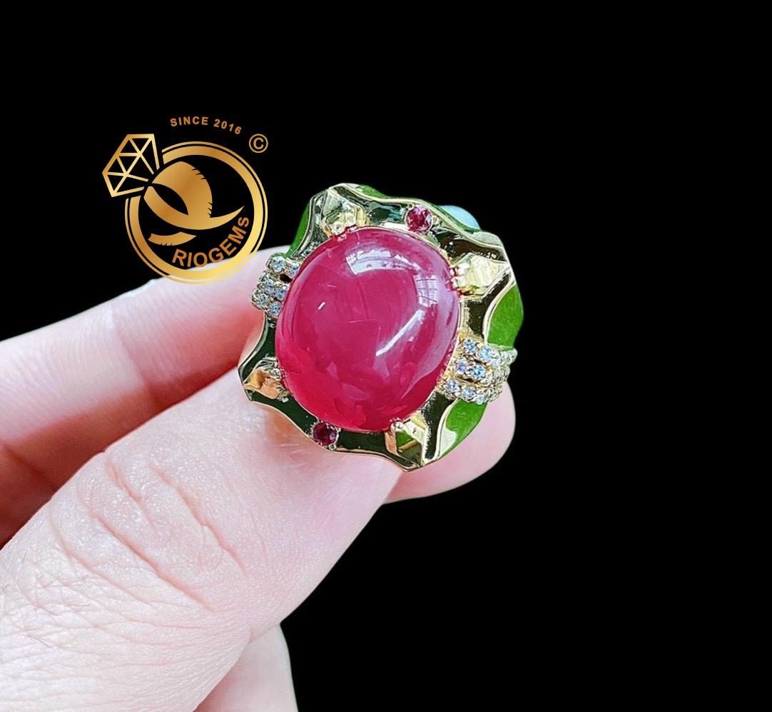 Nhẫn đá Ruby nam