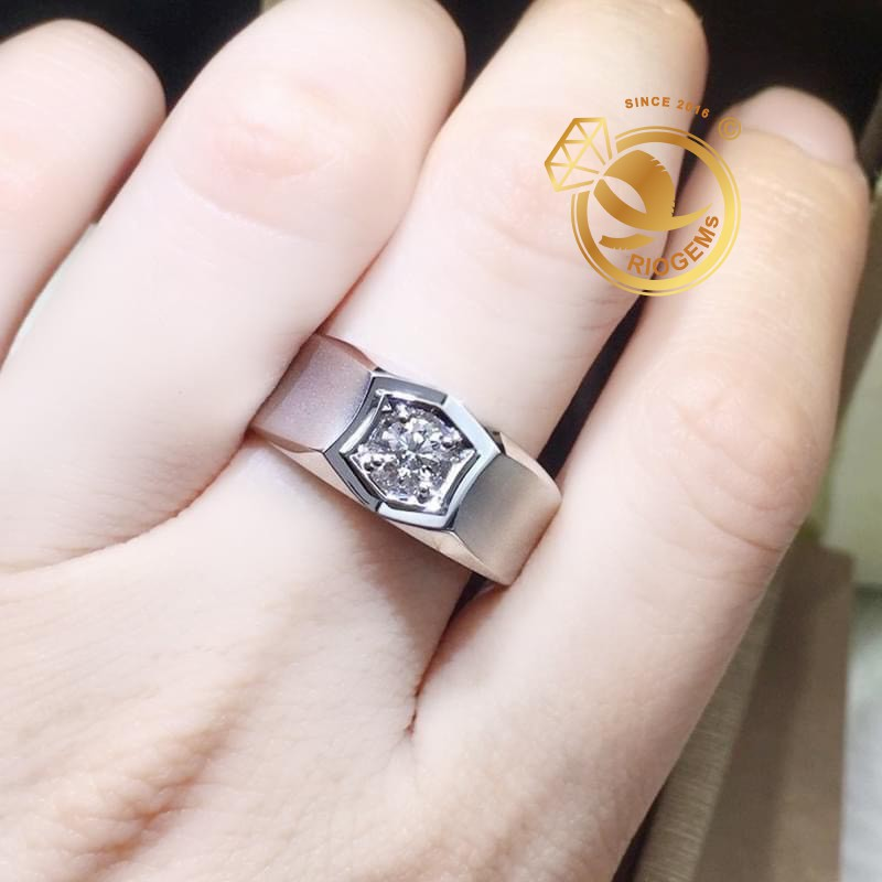 Nhẫn nam vàng Ý