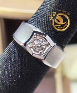 Nhẫn nam vàng Ý đính kim cương