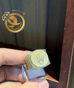 Nhẫn vương miện vàng 18K chuẩn giấy phổ tuổi vàng