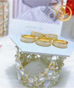 Nhẫn nữ vàng 18K đính đá CZ