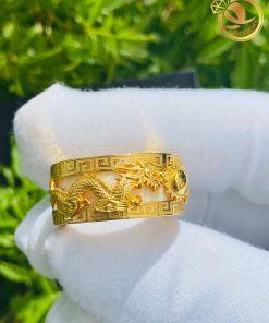 Nhẫn Rồng Phụng phong thủy bằng Vàng