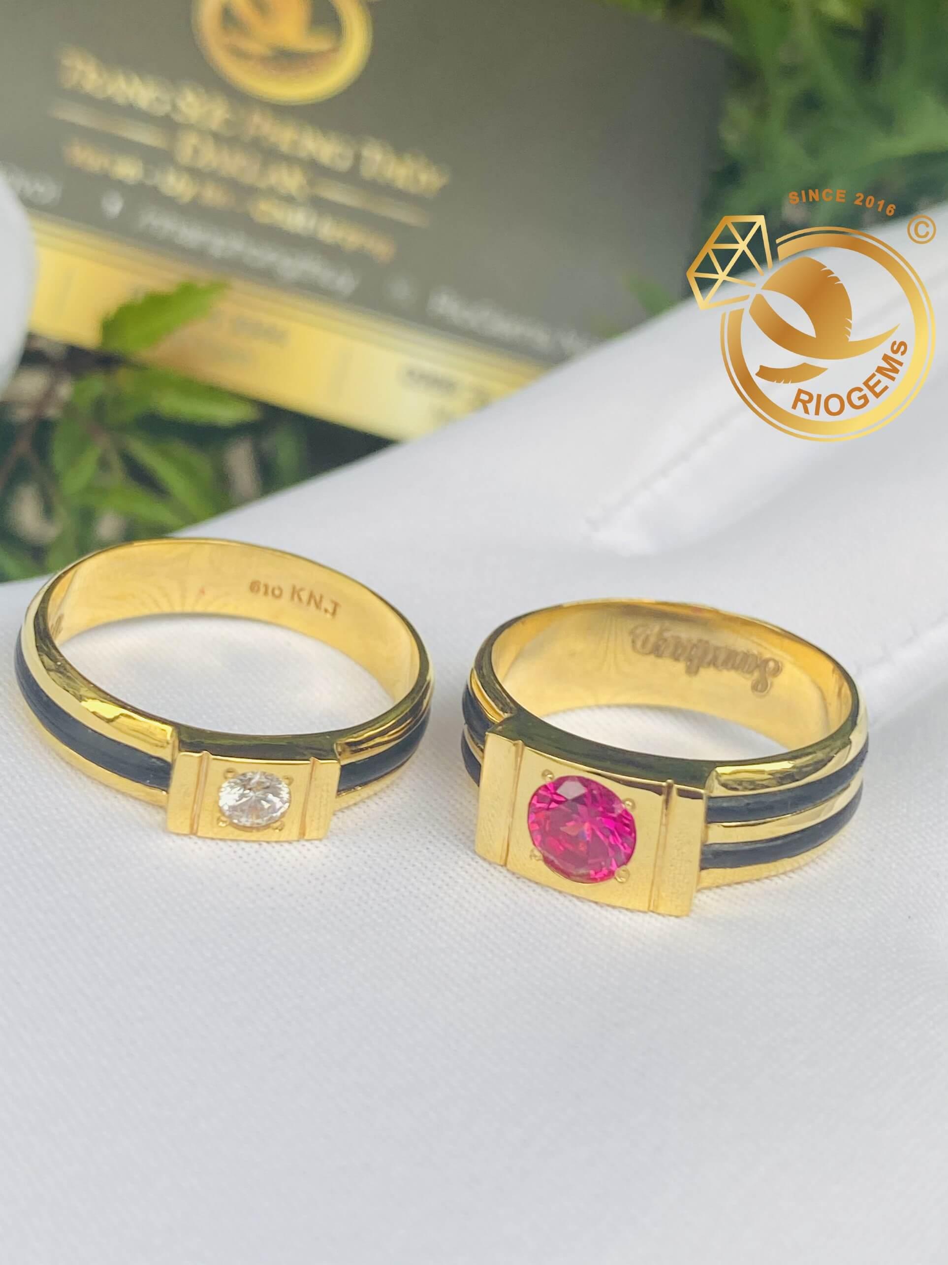 cặp nhẫn vàng 18k