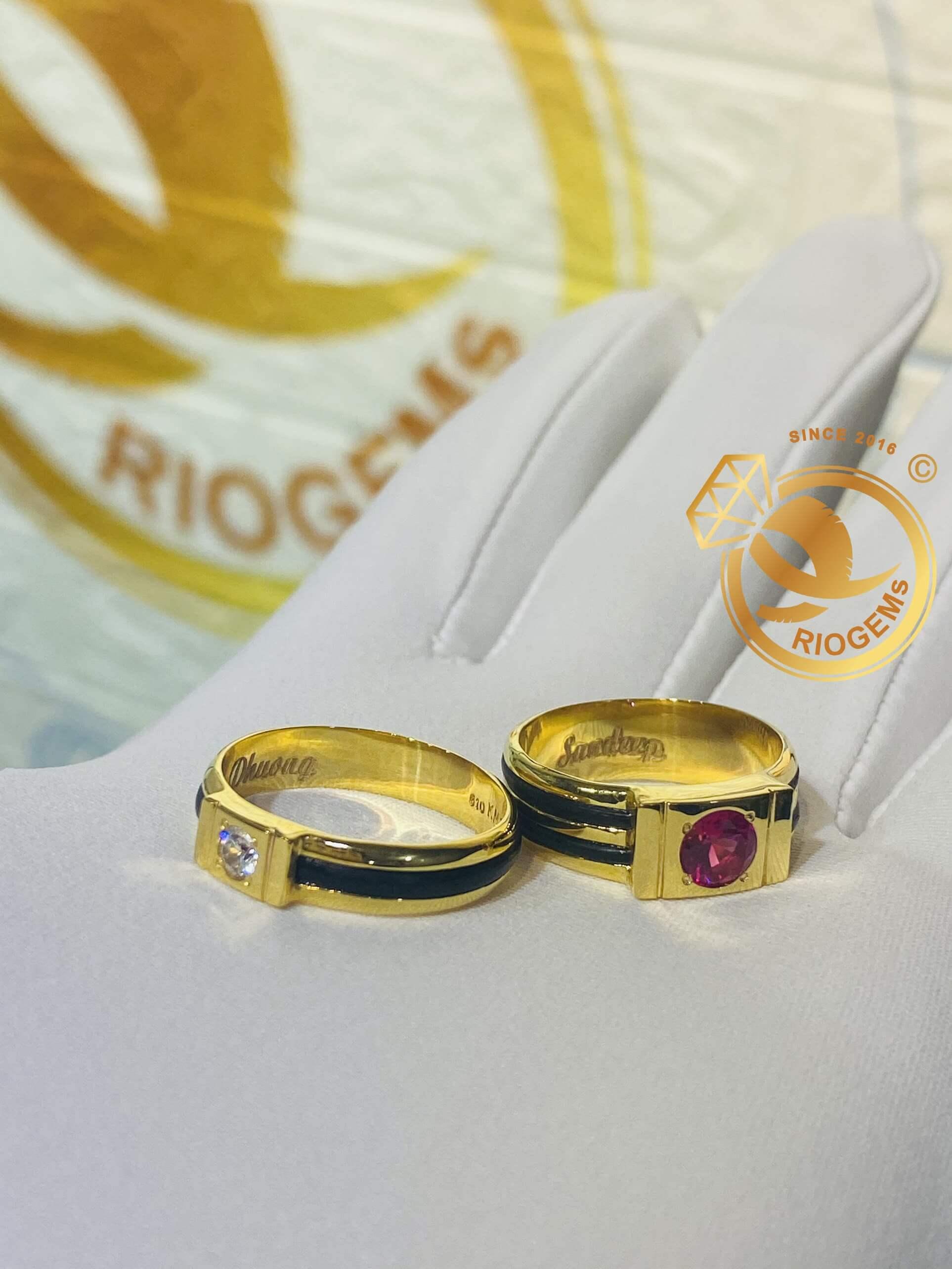 Nhẫn vàng đôi nam nữ