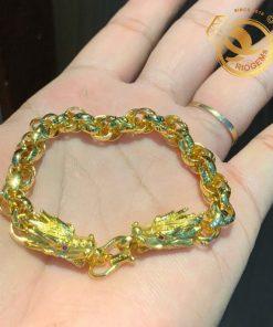 Lắc tay đầu rồng vàng