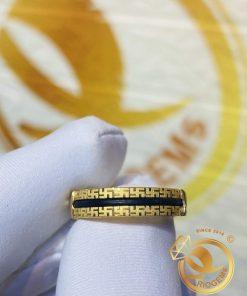 Nhẫn lông voiphong thủy RIOGEMs2 viền chữ Vạn