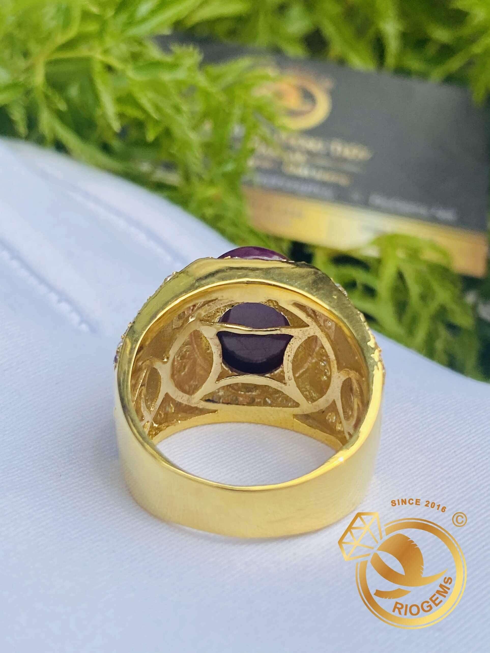 Nhẫn vàng nam hình rồng