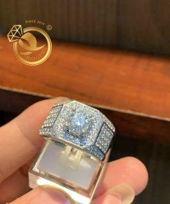 Nhẫn kim cương vàng trắng