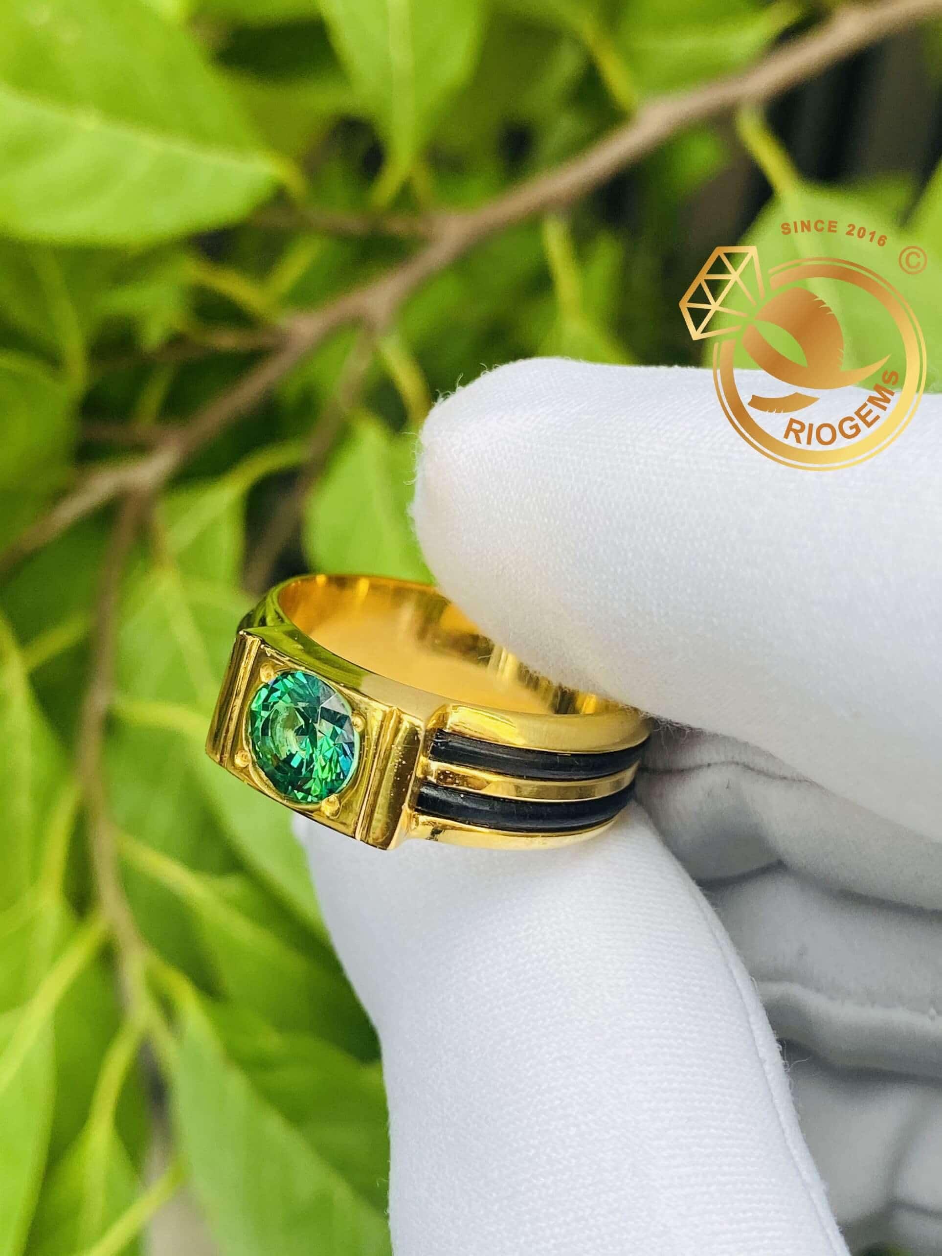 Nhẫn lông voi vàng tây