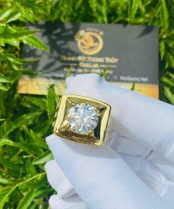 Nhẫn kim cương nam thật