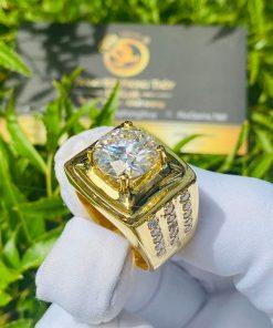 Nhẫn nam kim cương tự nhiên