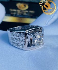 Nhẫn nam đính kim cương Moissanite