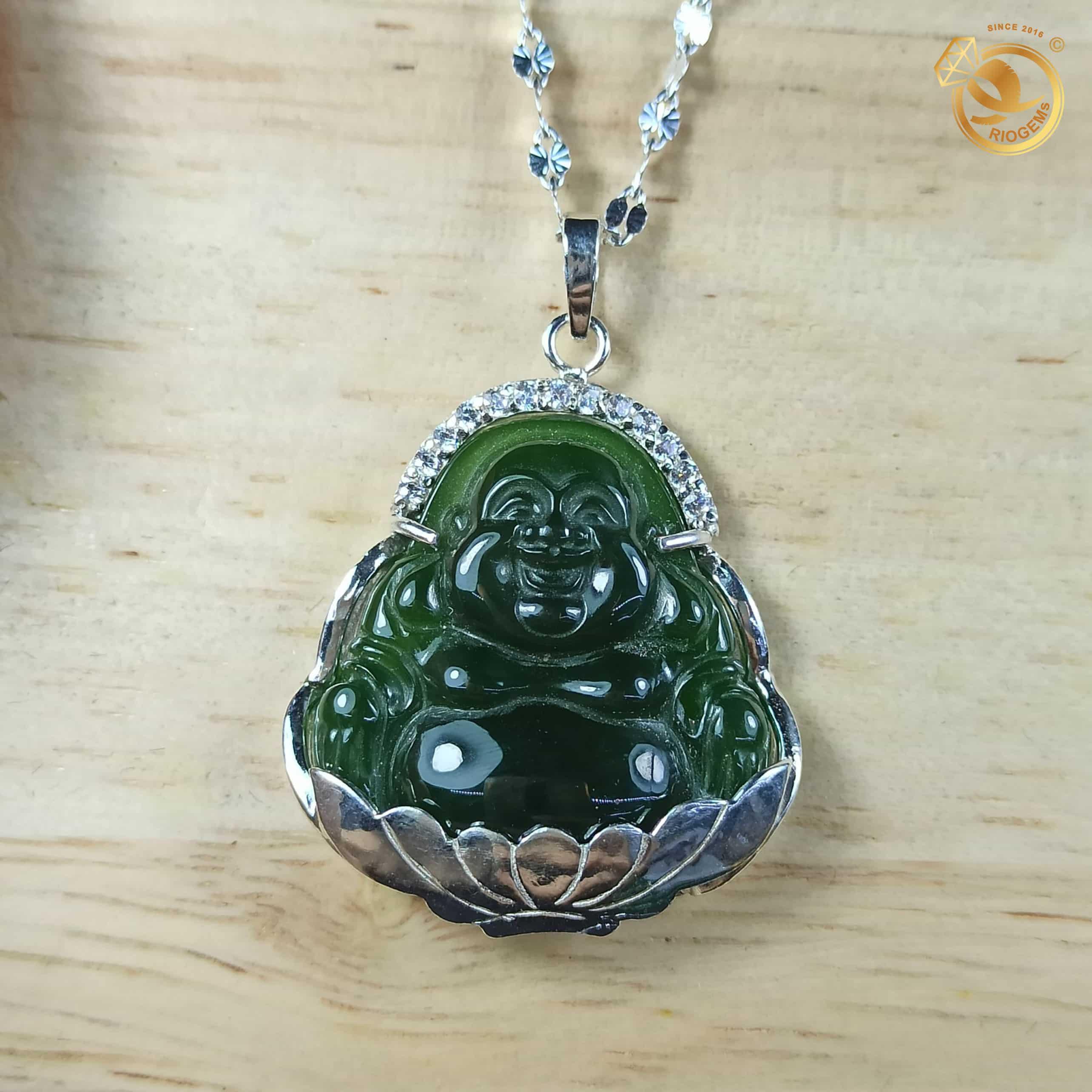 Mặt dây chuyền Phật di lặc bọc bạc