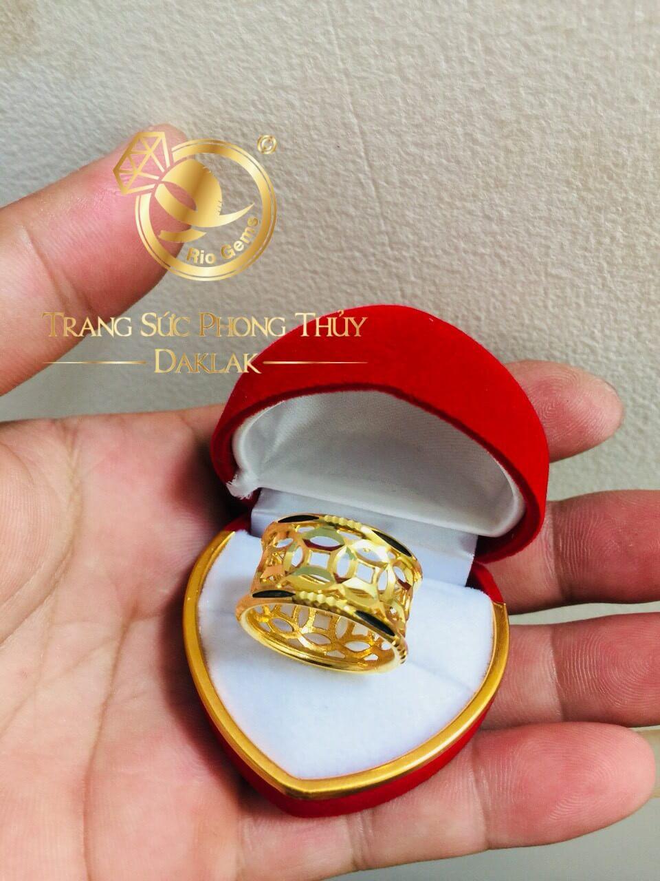 Nhẫn kim tiền vàng