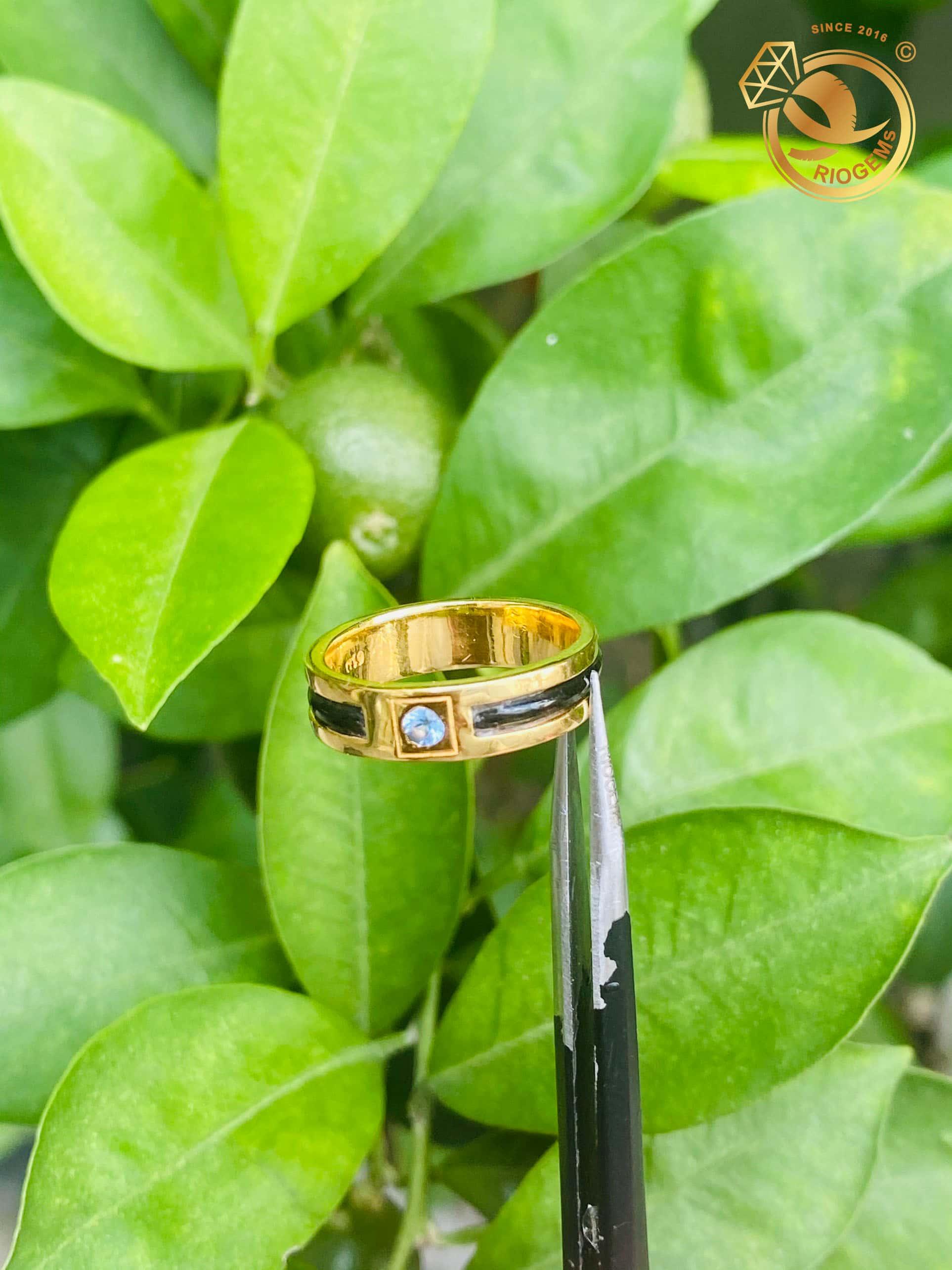 Nhẫn lông voi vàng
